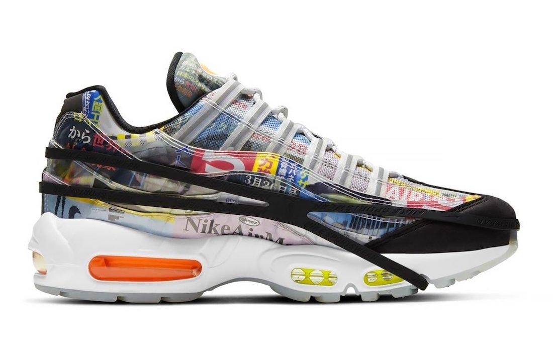Swoosh, Orange, Nike Air Max 95, Nike Air Max, Nike Air, Air Max 95, Air Max, 3M反光