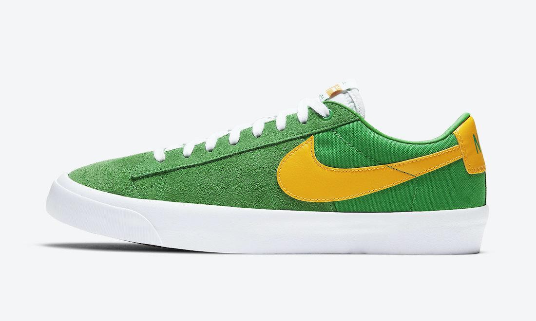 耐克SB, 帆布鞋, Swoosh, Nike SB Blazer Low GT, Nike SB, Lucky Green, Blazer