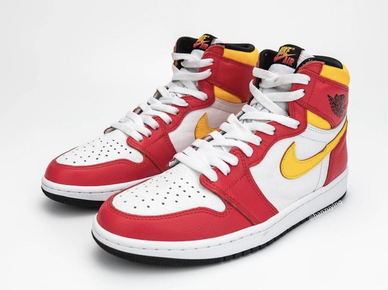 "镭射, Swoosh, Jordan, Air Jordan 1 High OG"" Light Fusion Red"", Air Jordan 1, Air Jordan"