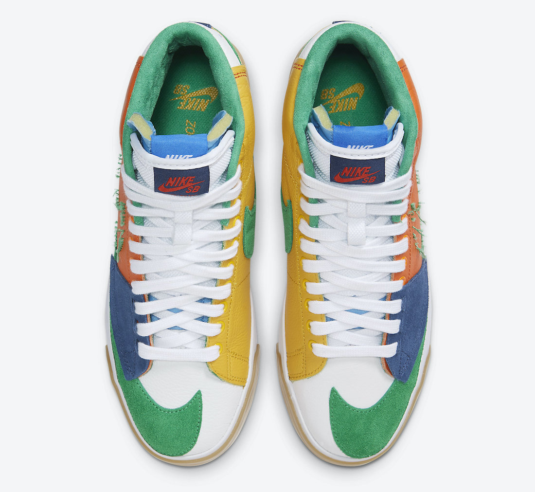解构, Swoosh, SB Blazer Mid Edge, Nike SB Blazer Mid Edge, Nike SB Blazer Mid, Nike SB, MULTI-COLOR, Blazer Mid, Blazer
