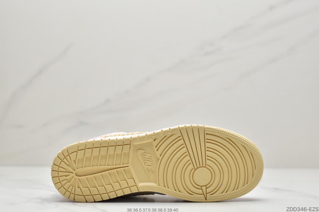 """粉冰淇淋, 篮球鞋, 华夫, 休闲鞋, Swoosh, Paint Drip, Jordan, Air Jordan 1 Low GS""""Paint Drip"""", Air Jordan 1 Low, Air Jordan 1, Air Jordan"""