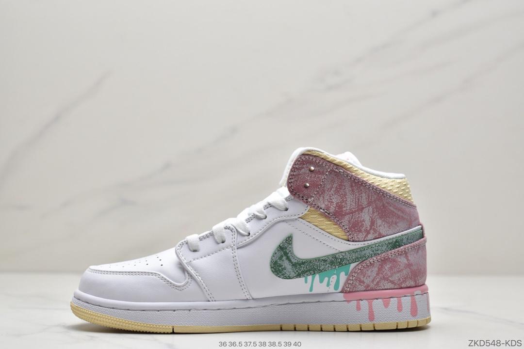 篮球鞋, 冰激凌, 乔丹篮球鞋, Swoosh, Jordan, Air Jordan 1 Mid GS, Air Jordan 1 Mid, Air Jordan 1, Air Jordan