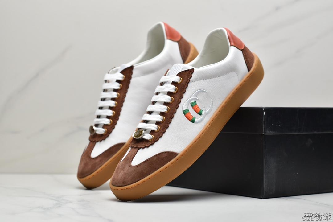 板鞋, 古驰, GUCCI JBG Leather And Suede
