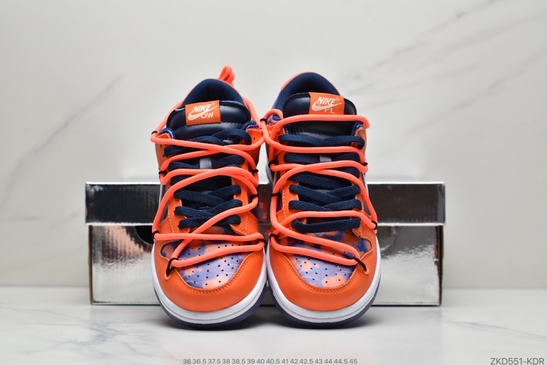 运动板鞋, 联名, 板鞋, 扣篮系列, Orange, Off-White, Nike SB Dunk, Nike SB, Nike Dunk, Dunk
