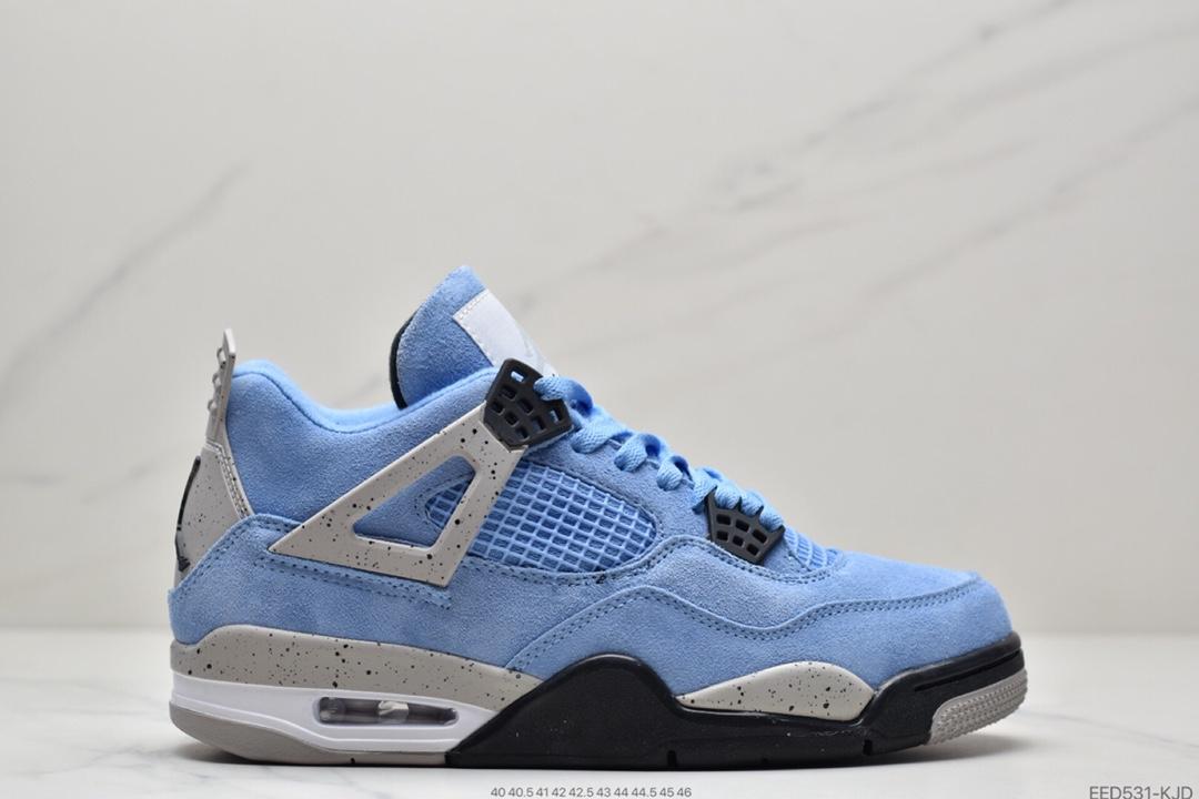 篮球鞋, 女鞋, 大学蓝, 休闲鞋, University Blue, NIKE, Jordan, AJ4, Air Jordan4 University Blue, Air Jordan