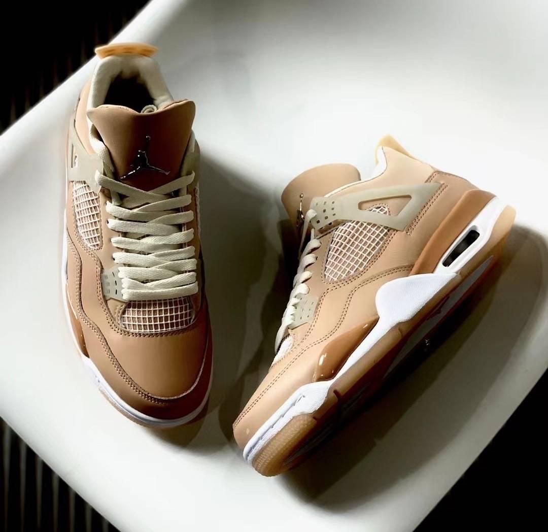 Orange, Jumpman, Jordan, Air Jordan 4 Shimmer, Air Jordan 4