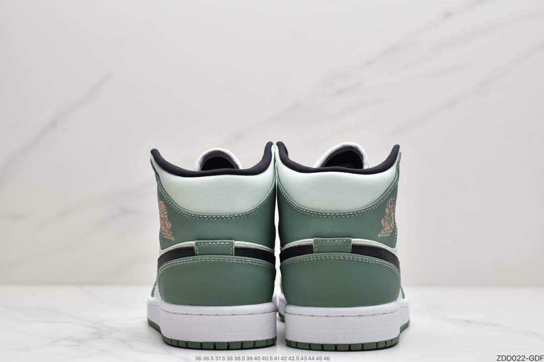 Swoosh, Jordan, Dutch Green, Air Jordan 1 Mid, Air Jordan 1, Air Jordan