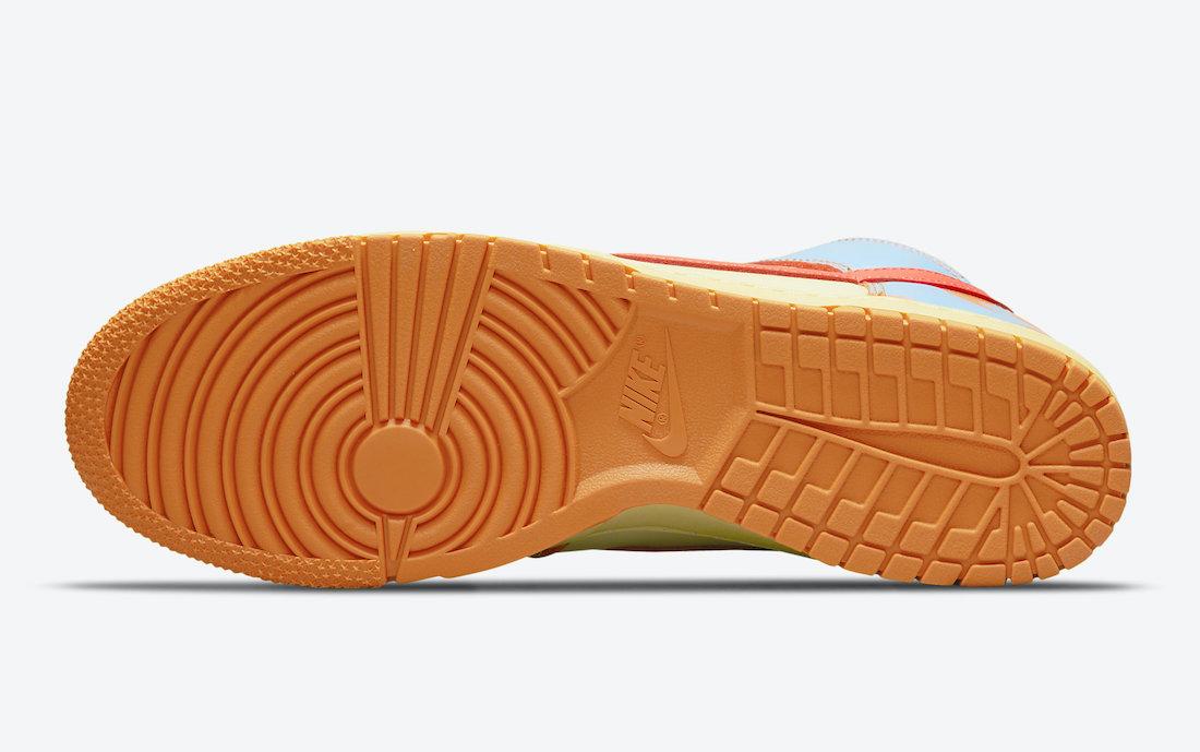 Orange, Nike Dunk High, Nike Dunk, NIKE, HIGH, Dunk High, Dunk, Black