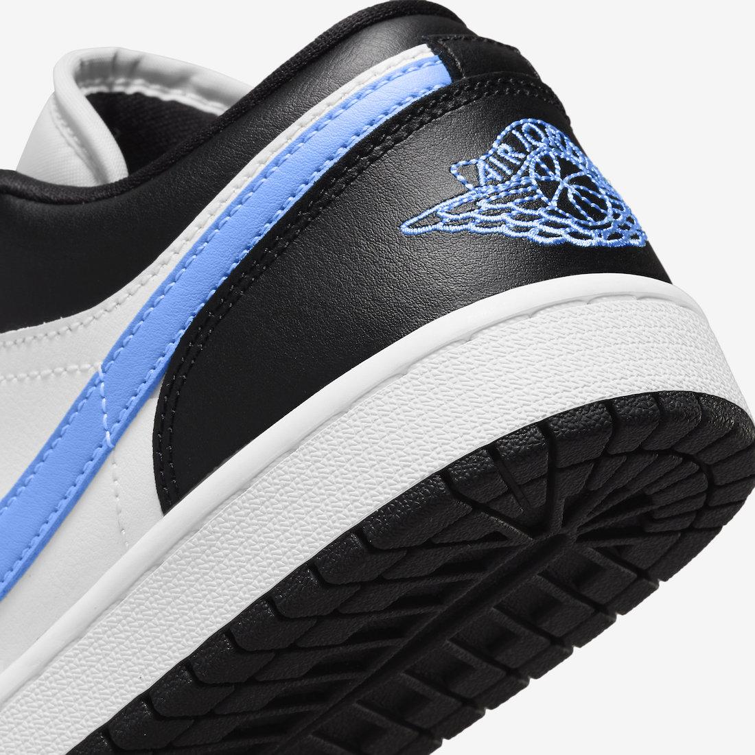 大学蓝, University Blue, Swoosh, Jumpman, Jordan, Air Jordan 1 Low, Air Jordan 1, Air Jordan