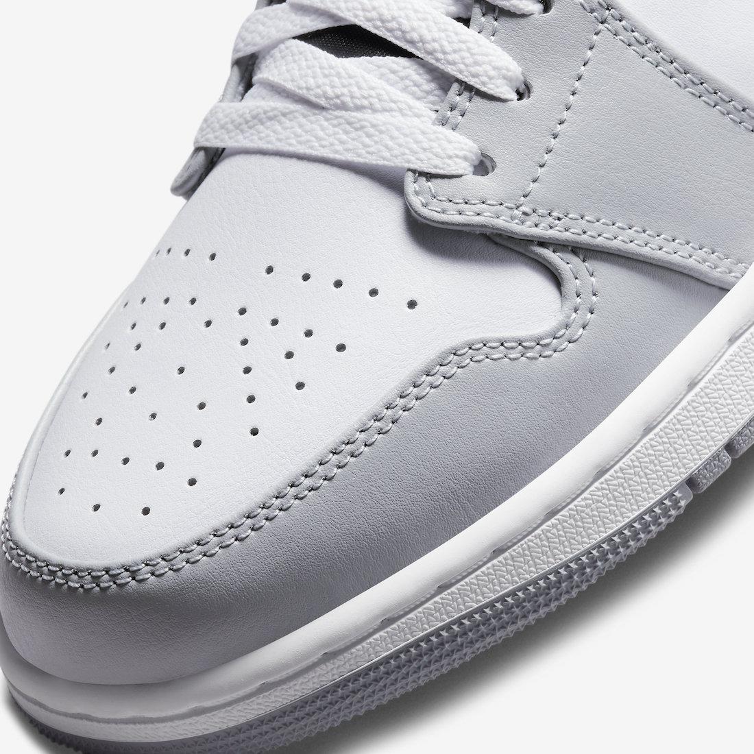 Swoosh, Smoke Grey, Light Smoke Grey, Jordan, Air Jordan 1 Mid, Air Jordan 1, Air Jordan