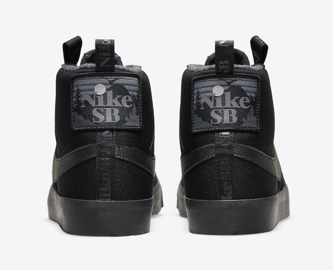 Triple Black, Swoosh, Premium, Nike SB Blazer Mid, Nike SB, NIKE, Blazer Mid, Blazer, Black